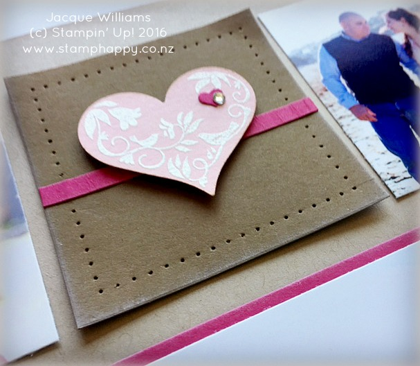 stampin up first sight blushing bride embossing