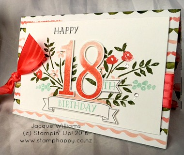stampin up number of years birthday bouquet 2
