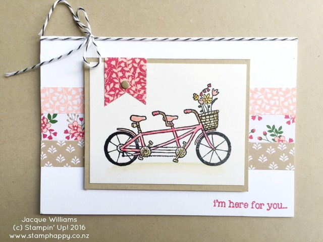 stampin up pedal pusher love note