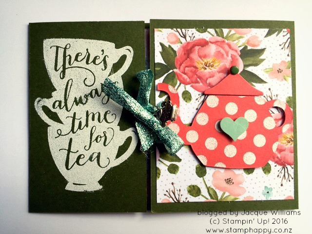 stampin up a nice cuppa fun fold jacque williams birthday blooms