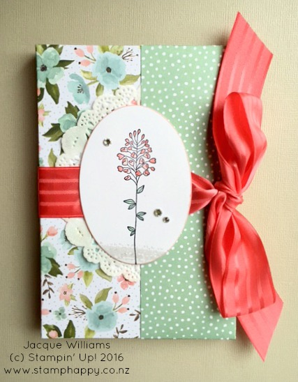 stampin up flowering fields easy gift card set holder envelope birthday gift