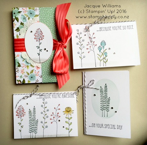 stampin up flowering fields easy gift idea gift card holder set diy birthday gift jacque williams new zealand