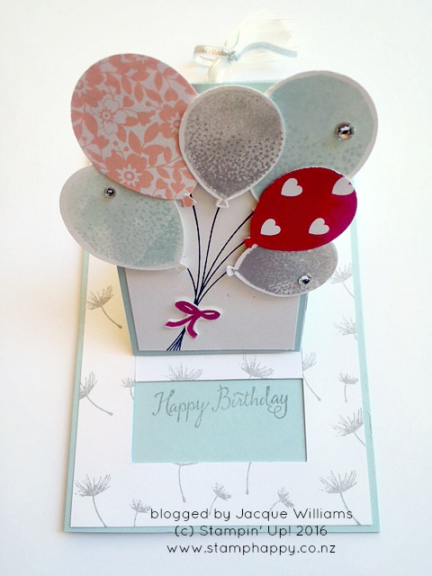 stampin up hamilton extravaganza balloon bouquet