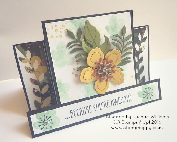 stampin up hamilton extravaganza botanical blooms step card