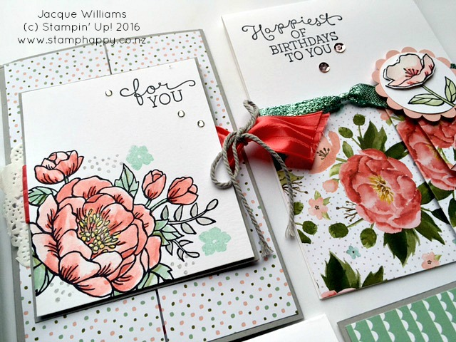 stampin up jacque williams stamphappy new zealand birthday blooms blossoms blossoms card diy