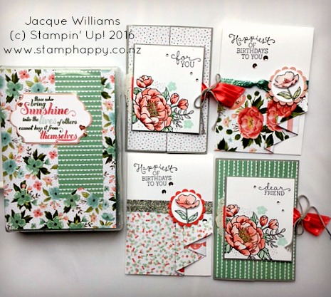 stampin up jacque williams stamphappy new zealand birthday blooms diy gift pack