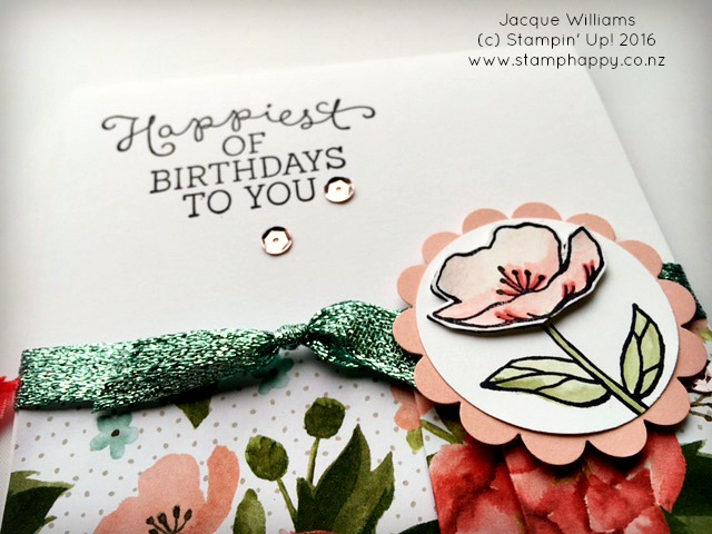 stampin up jacque williams stamphappy new zealand birthday blooms pleated blossoms card diy
