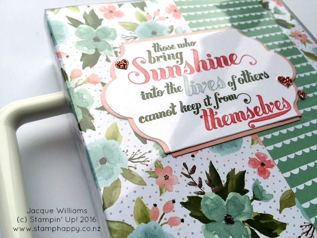 stampin up jacque williams stamphappy new zealand birthday bouquet blossom card gift box