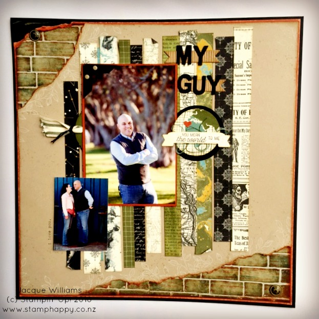 stampin up jacque williams stamphappy new zealand going global places masculine scrapbooking layout