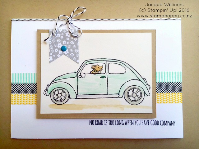 stampin up beautiful ride watercoloring washi tape dog jacque williams