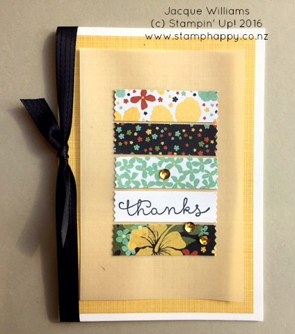 stampin up botanical blooms washi tape easy quick thank you card jacque williams new zealand