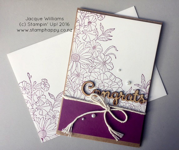 stampin up corner garden rich razzleberry expressions jacque williams