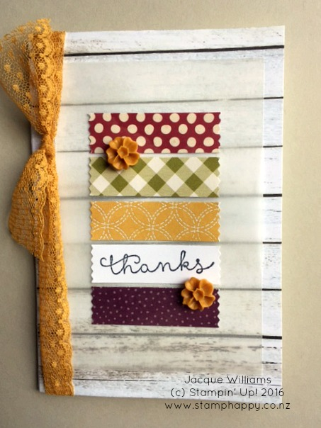 stampin up farmer's market washi tape quick easy card hello honey