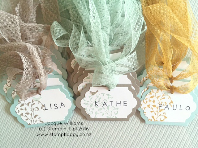 stampin up lots of labels onstage bag tags first sight