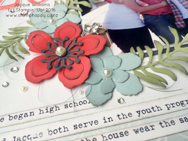 stampin up botanical blooms 2015 totally grateful layout