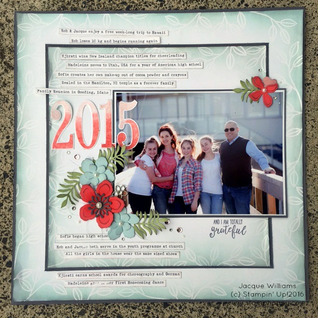 stampin up grateful 2015 emboss resist layout