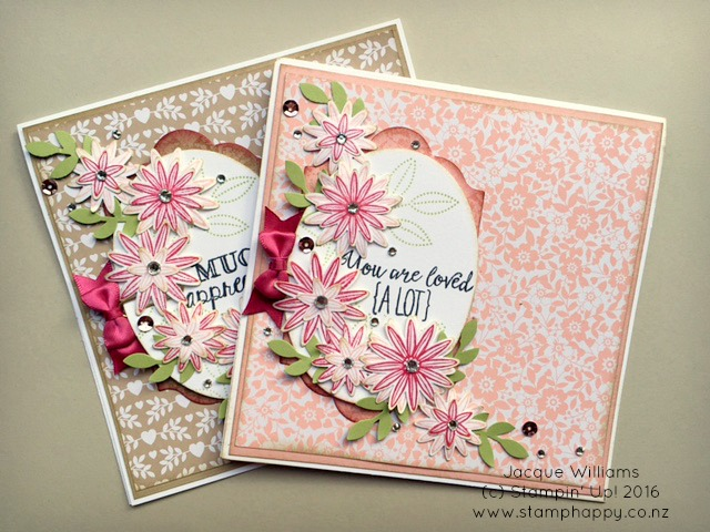stampin up grateful bunch love blossoms blushing bridge