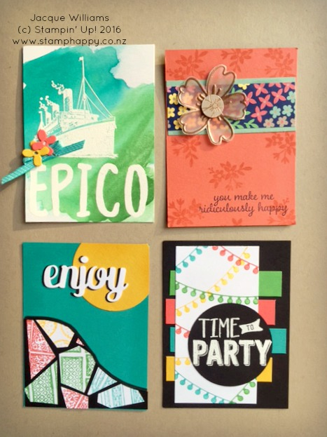 Stampin Up Project Life Make your own cards swap