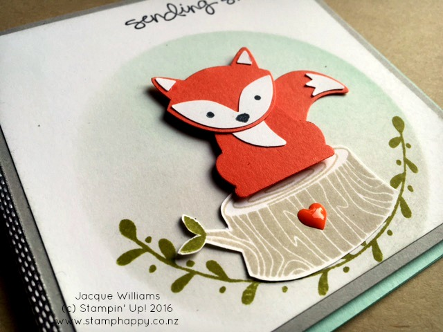 stampin up foxy friends sponging technique background