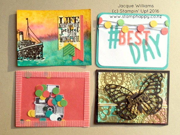 stampin up project life make your own swap cards