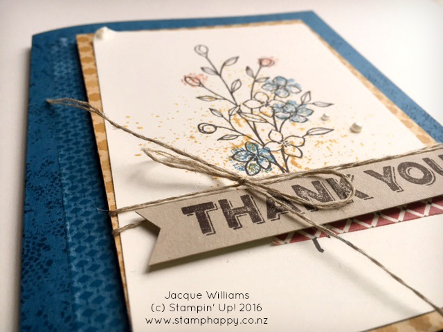 stampin up touches of texture one big meaning dapper denim