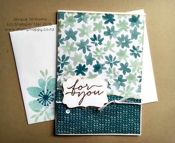stampin up blooms and wishes and bliss rip and flip