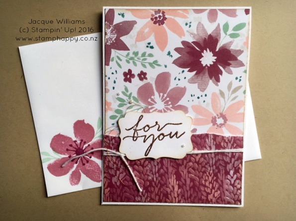 stampin up blooms wishes bliss rip & Flip