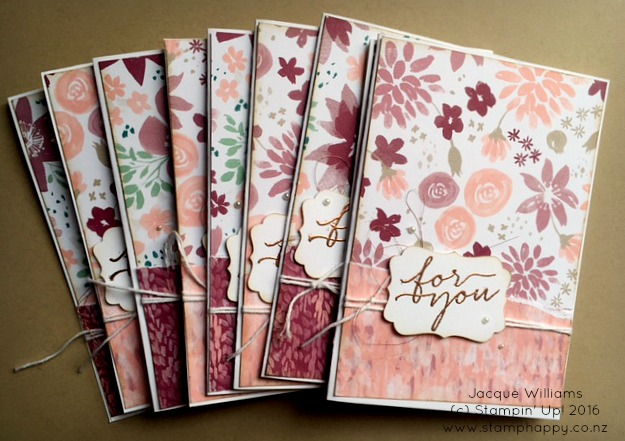 stampin up blooms wishes rip and flip bliss