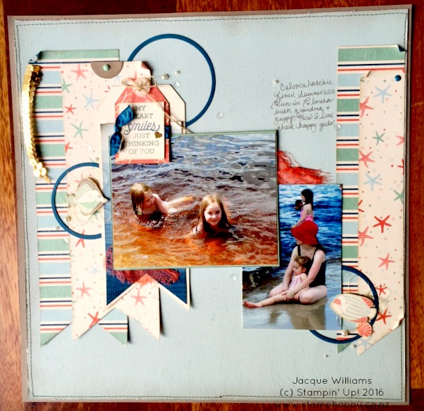 stampin up by the shore seaside nautical layout