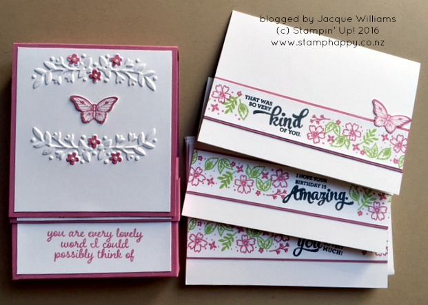 stampin up love & affection card set box
