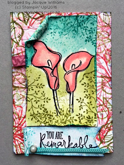 stampin up remarkable you nelson watercolour