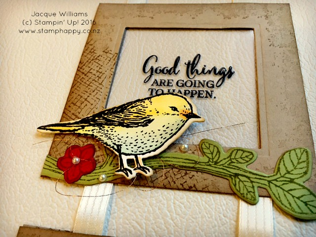 stampin up best birds frame home decor vintage card