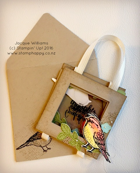 stampin up best birds hanging card