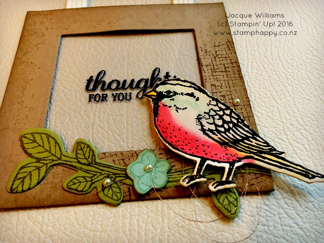 stampin up best birds vintage watercolor frame card