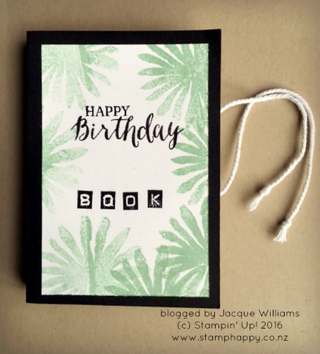 stampin up bliss and blooms birthday book