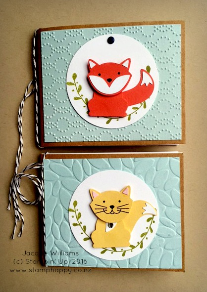 stampin up foxy friends covered notebook