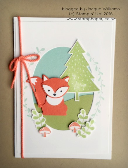 stampin up foxy friends framed card