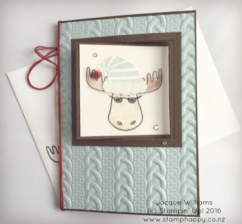 stampin up jolly friends swing card