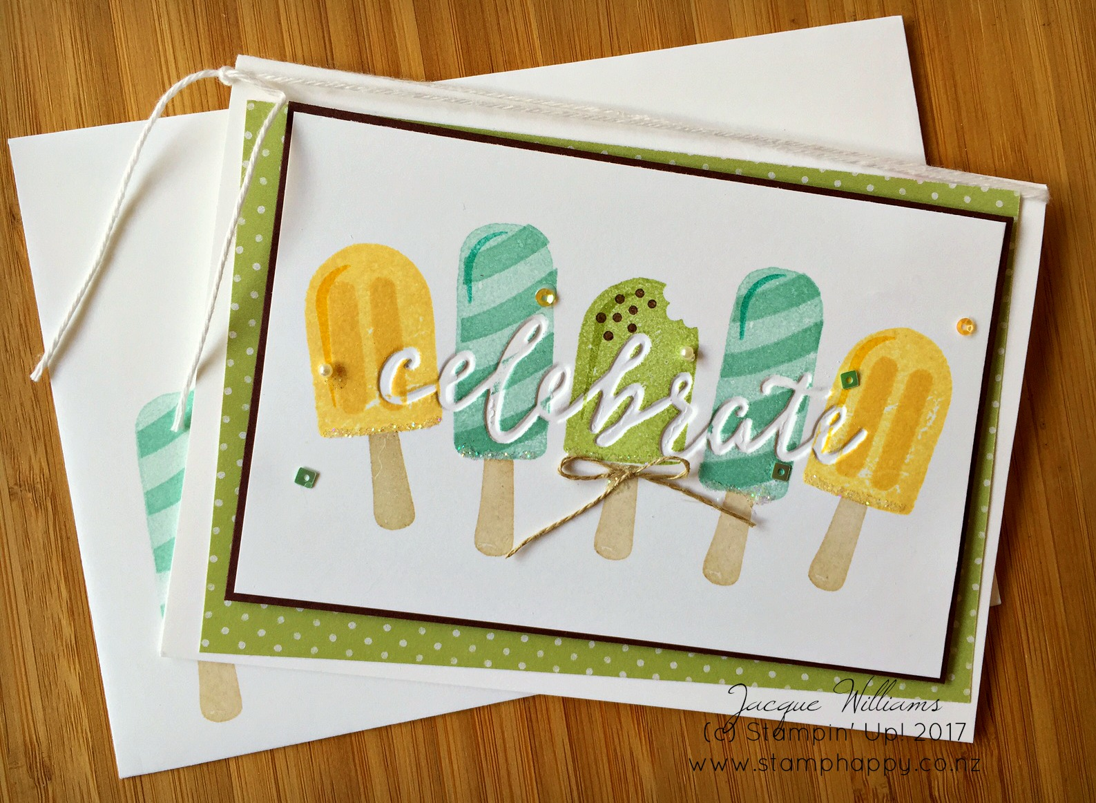 stampin up cool treats debossed sweet