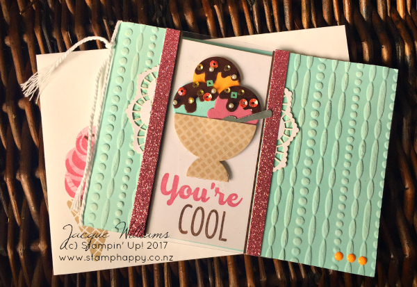 stampin up cool treats frozen acetate window card