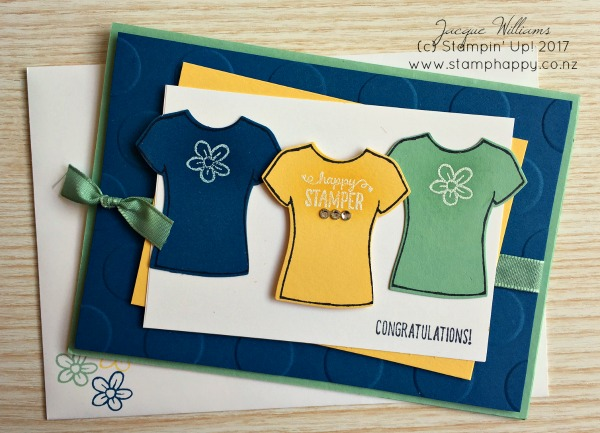 stampin up custom tee bundle congratulations card