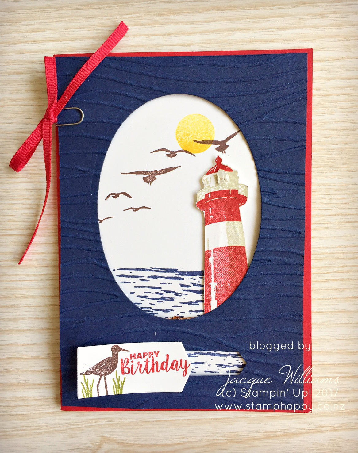 stampin up high tide light up card