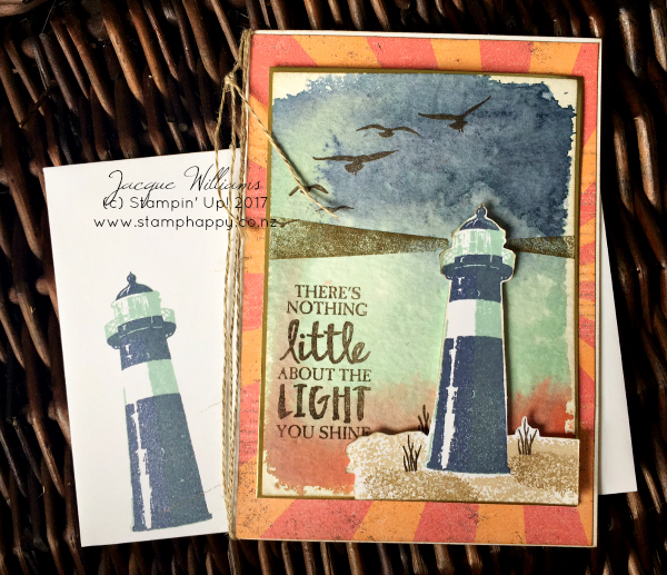 stampin up high tide masculine nautical birthday technique