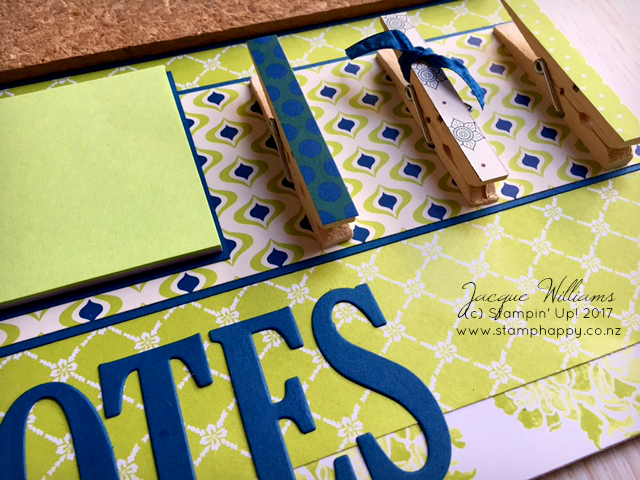 stampin up lemon lime twist altered clipboard eastern elegance