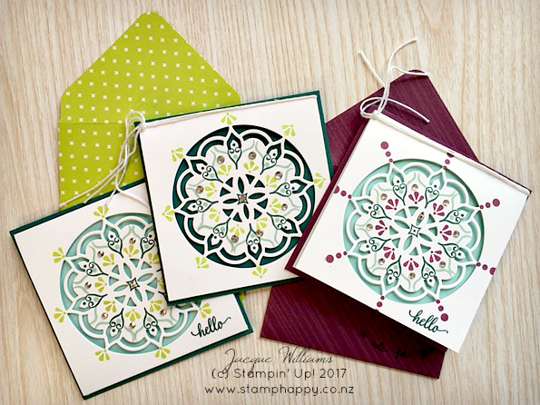 stampin up eastern palace notecards martha inchley lemon lime twist