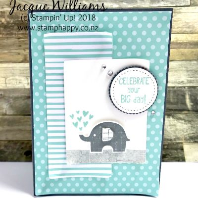 Little Elephant Pop Up Baby Card