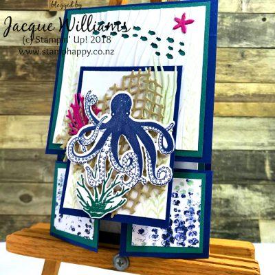 Sea of Textures Dutch Fold Card