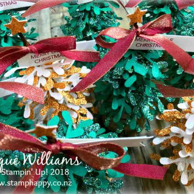 Sprig Punch Christmas Tree – Cute Gift or Table Favor! – Tutorial Available