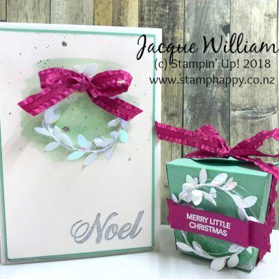 Takeout Treats Box for Christmas in Mint Macaron & Berry Burst