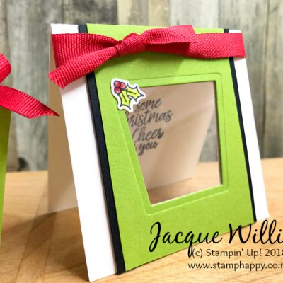 Takeout Treat Box Gift Set for Christmas in Red and Green